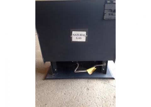 Ventless natural gas heater