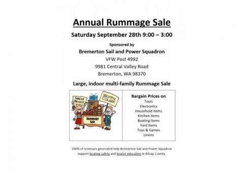 Bremerton Sail & Power Squadron Rummage Sale