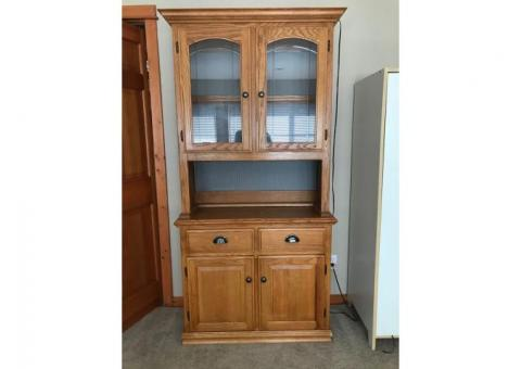 Oak Hutch Cabinet