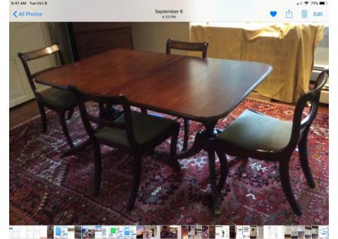 Vintage Antique Dining Table