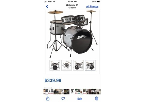 Like new drumset