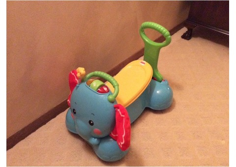 Fisher Price Ride And Push Elephant