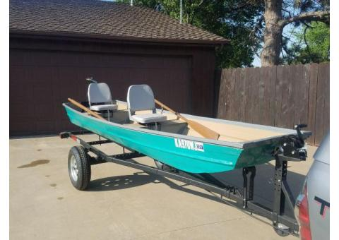 Flat Bottom Boat with Trailer