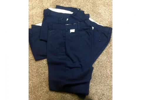 Red Kap brand work pants, dark navy blue. New, never worn. W 34 - L 32